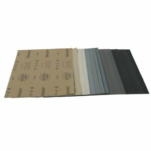 9x11 Sanding Sheets Wet Dry Silicon Carbide Sandpaper Grits 80 7000 Grits