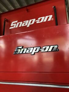 Snap On Tool Box Cart Badge Chrome Decal Sticker 8 Inch 3d 14 4v Power