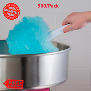 500 pack Carnival King Plain White Heavy duty Paper Cotton Candy Cones Handle
