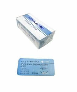 48 Pack 4 0 Surgical Sutures Polypropylene Monofilament Braided Sterile