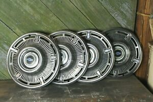 1965 Chevrolet Chevy Impala Hubcaps Set Of 4 14 Old Car Part