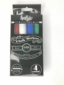 Loddie Doddie Basic Colors Chalk Markers 4 Ct Ideal For Chalk Dry Erase More