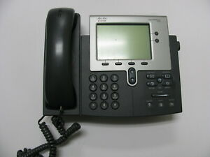 Lot Of 2 Cisco 7942 Ip Voip Business Telephone