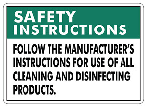 Safety Instructions Follow The Manufacturer s Adhesive Vinyl Sign Decal