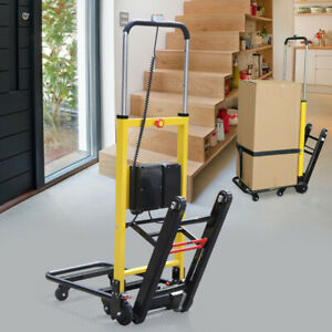 Stair Climbing Hand Truck Electric Power 440 Lb Load Folding Cart Dolly 6 Wheels