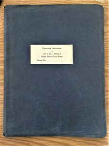 Chandler Price Model 3 Installation Care Operation Manual 14 X 22 Press
