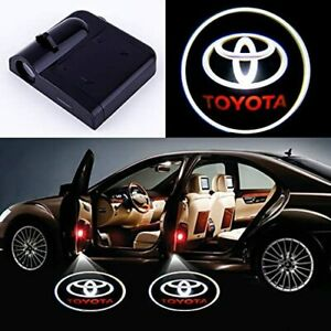 2pcs Car Logo Wireless Led Courtesy Ghost Shadow Door Projector Light Fit Toyota