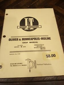 I t Service Manual O 26 Oliver Minneapolis Moline 2255 G955 G1355 It Tractor
