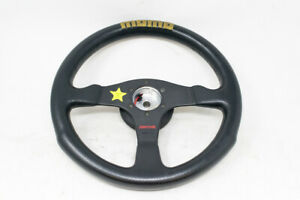 Momo Competition Steering Wheel On Nissan Skyline R32 Works Bell Shallow Hub