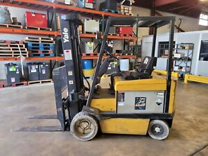 1994 Yale Erc060rf Electrc Cushion Tire Forklift With 3 Stage Mast