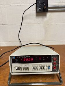 Hp 3466a Digital Multimeter Tested No Leads
