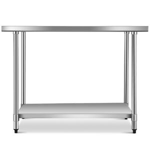 Costway 30 x48 Stainless Food Prep Work Table Commercial Kitchen Home Silver