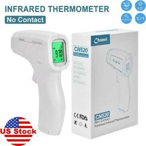 Ir Infrared Digital Forehead Thermometer Non contact Adult baby Body Thermometer