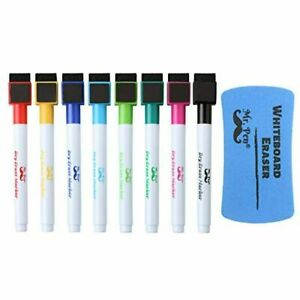 Mr Pen Magnetic Dry Erase Markers 8 Pack With 1 Dry Erase