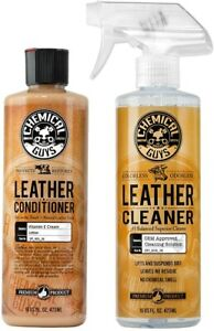 Chemical Guys Leather Cleaner And Conditioner Set For Car Interior Care 2x4oz