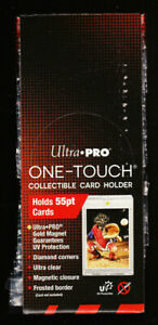 Box 25 Sealed Ultra Pro One touch Card Holders Clear Magnetic Closure 55 Pt