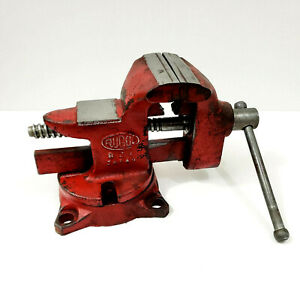 Red Rugol Swivel Bench Vise Model 821 Made In Japan 8 Lb 3 Jaw
