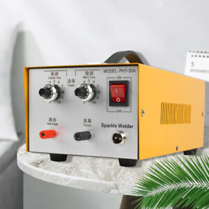 Pulse Sparkle Spot Welder Electric Jewelry Welding Machine Gold Silver cable
