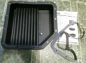 Derale 14200 Th350 Turbo 350 Gmc Chevy Transmission Oil Pan Cooler 3 Deep 2qts