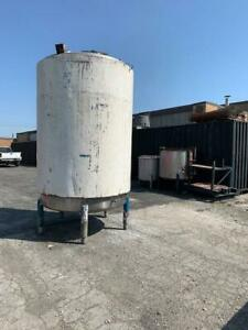 2100 Gallon Steam Jacketed Tank Stainless Steel