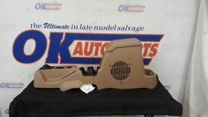 02 Jeep Wrangler Tj Sahara Oem Front Floor Center Console With Subwoofer Tan