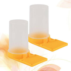 2pcs Bee Feeder Plastic Durable Quality Bee Feeder For Bee Entrance Feeder
