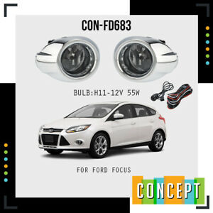 For 2012 2014 Ford Focus S Se Sel Clear Driving Fog Lights Lamps