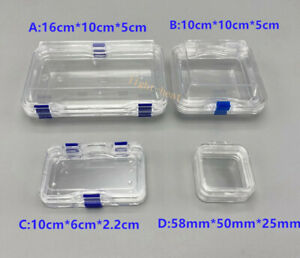 Acrylic Membrane Case Storage Hinged Display Box Jewelry Chip Shockproof Boxes