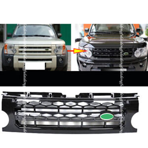 For Land Rover Discovery Lr3 2005 09 Black Front Bumper Grille Assembly Facelift