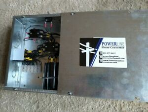 10 Hp Rotary Phase Converter Panel With Push Button On off