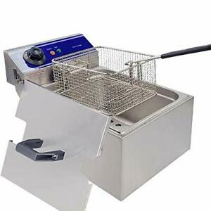 Commercial Electric Deep Fryer Countertop Stainless Steel Deep Fryer With