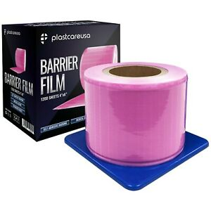 Pink Barrier Film Plastic Sheets Tape For Dental Tattoo Medical Adhesive Roll