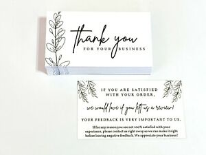 100 1000 Ebay Etsy Shopify Seller Thank You Business Cards Double Sided Color 5