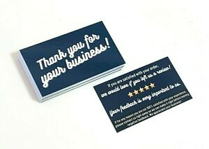 100 1000 Ebay Seller Thank You Ebay Business Cards Double Sided Color Uv 6