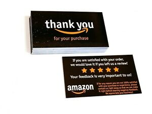 100 1000 Amazon Seller Thank You Amazon Business Cards Double Sided Color Uv 8