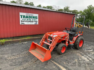 2014 Kubota B2620 4x4 26hp Hydro Compact Tractor W Loader Only 178hrs