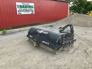 2010 Bradco 74 Hydraulic Bucket Power Sweeper Attachment For Skid Steer Loaders