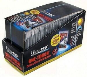 Box 25 Sealed Ultra Pro One touch Card Holders Clear Magnetic Closure 35 Pt