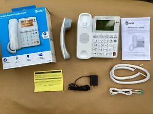 At t Cl4940 Corded Phone W Answering System Backlit Display Extra Large Buttons