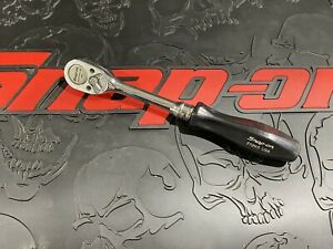 Snap On Tools F726b Black Hard Handle 3 8 Drive Ratchet Vintage Made In Usa