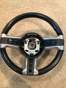 10 14 Mustang Black Leather Steering Wheel Alloy Trim Cruise
