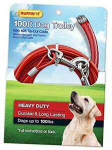 Chrome Tie Cable 100ft Trolley Up To 100lbs