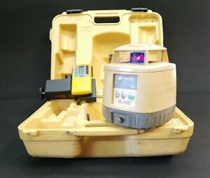 Topcon Rl h3c Red Rotary Laser Level With Receiver Clamp 07
