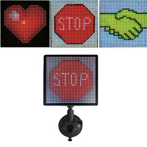 P4 Led Bluetooth Car Sign Message Board 12v Rgb Animated Display Screen