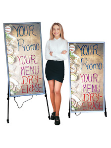 Backlit Led Menu And Promo Board With Free Graphic dry erase Of Your Choice