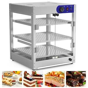 Commercial Food Warmer 3 tier Glass Court Heat Food Pizza Display Warmer Cabinet