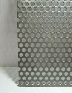 3 8 Hole 16 Gauge 304 Stainless Steel Perforated Sheet 10 1 2 X 21 5 8