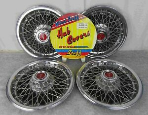 Vintage Pontiac Wire Spoke Rim Tire Wheel Cover Hubcaps In Ship Container
