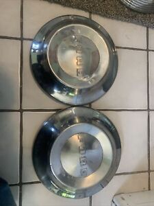 1952 1953 1954 Ford Hubcaps Dog Dish Vintage Poverty Caps 2