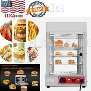19 6 Commercial Food Warmer Court Heat Food Pizza Display Warmer Cabinet New